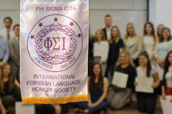 Modern Languages - Department Page - Department Highlight - Phi Sigma Iota - 562x372